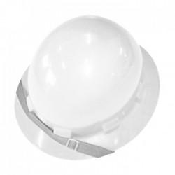Capacete Branco Aba Total PLASTCOR