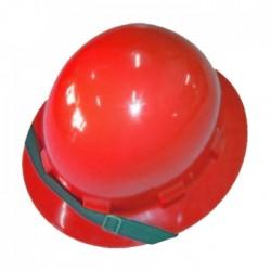Capacete Vermelho Aba Total PLASTICOR